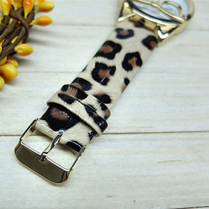 Leopard Band Cat Glasses Watch