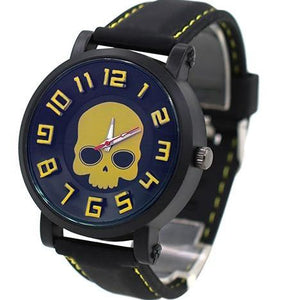Canary Yellow  Silicone Skull Watch
