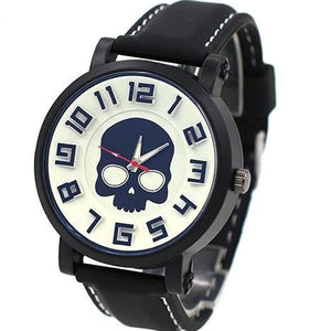 Pure White  Silicone Skull Watch