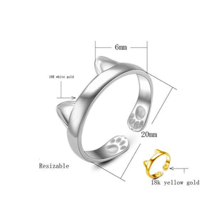 Cat Ears Ring Dimensions