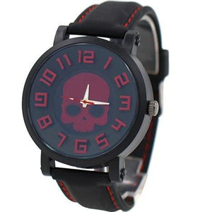 Deep Red  Silicone Skull Watch