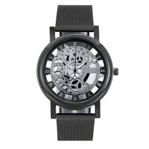 Black/Silver Stainless Steel Watch