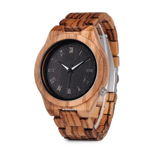 Hand Crafted Gingerbread Wooden Watch