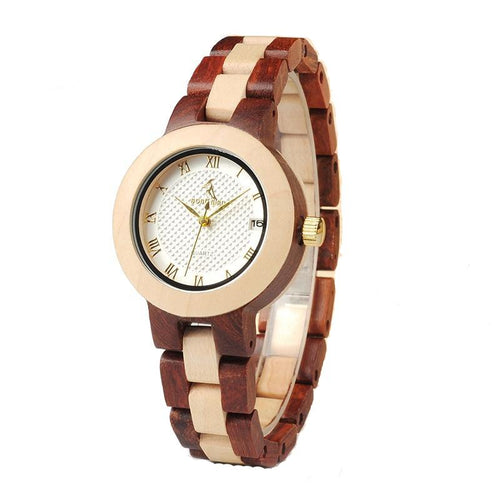 hand crafted cherry wooden watch
