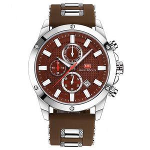 Men's Precision Watch Walnut Brown / Silver