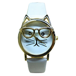 White Cat Glasses Watch