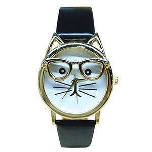 Black Cat Glasses Watch