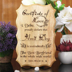 Premium Customizable Wooden Certificates