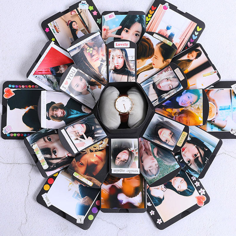 Handmade Photo Album Hexagonal Explosion Box