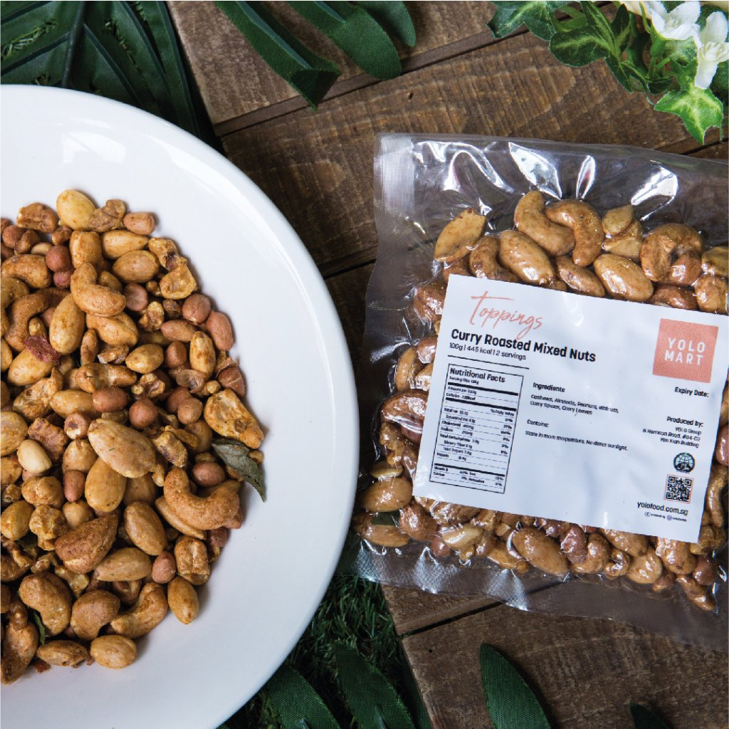 Curry roasted mixed nuts (250g)