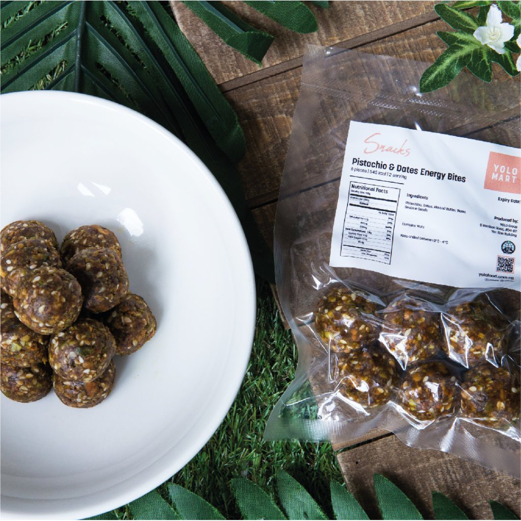 Energy Bites: Pistacchios & Dates (12pcs)