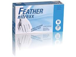 GUANTI IN NITRILE FEATHER NITREXX - CF DA 100 PZ