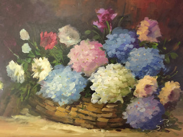 MADEIRAN FLOWERS IN A BASKET