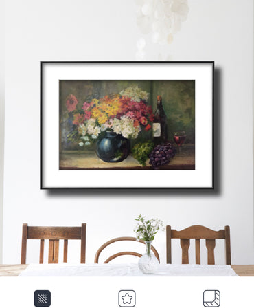 STILL LIFE WITH GRAPES AND MADERIAN FLOWERS