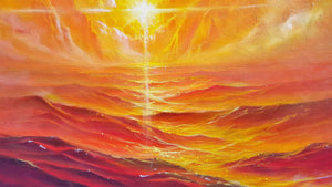 Christ Walk Red Sea (Original Giclee)