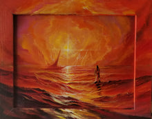 Load image into Gallery viewer, Christ Walk Red Sea (Original Giclee)