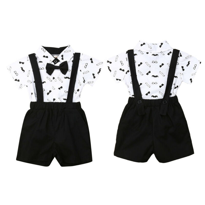 0-24M Suit Rompers + Overalls Formal Party Wedding Birthday Costumes