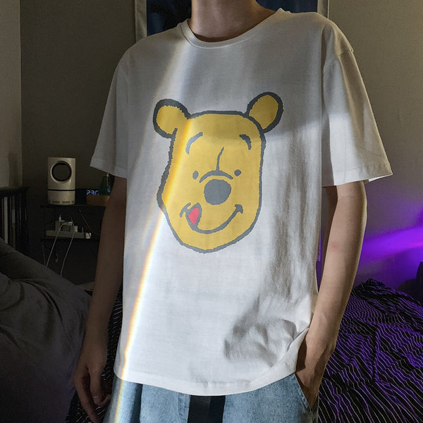 Vans Mens Disney Pooh Bear T-shirts short sleeve Sportswear