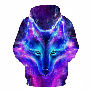 Space Galaxy Wolf Hoodie Hoodies Men 2019 New Fashion Spring Autumn Pullovers Sweatshirts Sweat Homme 3D Tracksuit