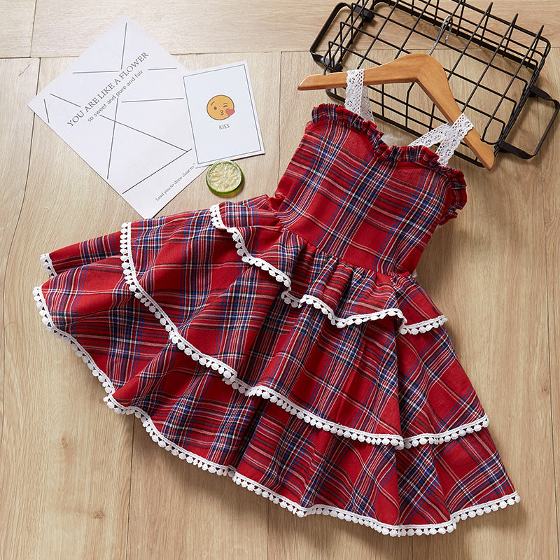 Girl Dress Fashion Party Clothes Europe and the American Baby Dresses Girl Princess Dress Children Birthday Dress