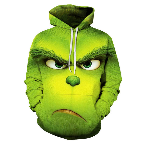 NEW Hot Sale 3D Funny green monkey Printed Hoodies Men Women Hooded Sweatshirts Harajuku Pullover Quality Outwear Tracksuits