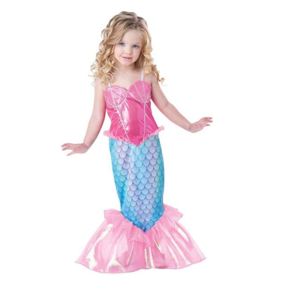 Kids Baby Girls The Little Mermaid Ariel Long Maxi Dresses Princess Party Pageant Cosplay Costume Fancy Children Dress Clothes