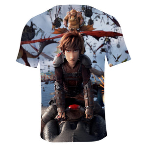 2019 Boys Summer T Shirt How To Train Your Dragon 3 Kids 3d Print Tshirt For Boys Girls Children Clothes 3 5 6 7 8 9 10 12 Year
