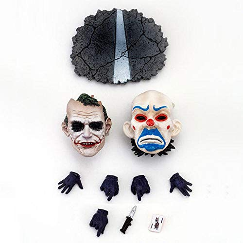 Batman Q Version Clown 1/6 Joker Face Replacement Movable Doll Toy Decoration Ornament Gift Collection Crafts, Car Decoration 16.6cm Anime Toys