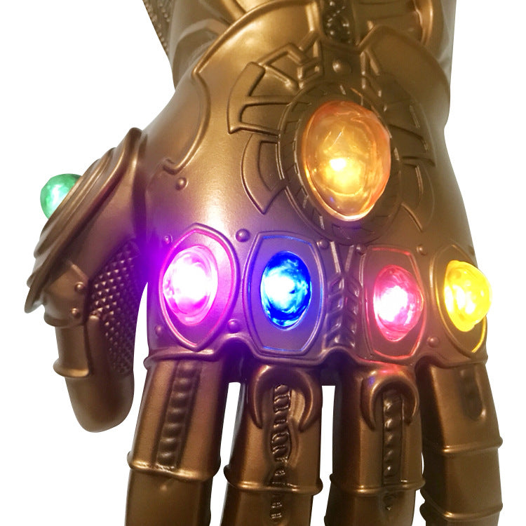 Infinity War Gauntlet with 6 LED Glittering Gem, Marvel Avengers Thanos Gauntlet for Cosplay Bronze