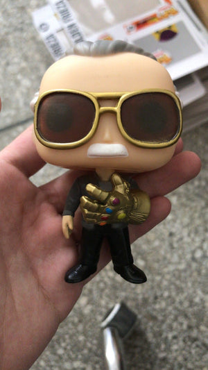 Marvel Avengers Stan Lee With Infinity Gauntlet #01 PVC Action Figure Toy Gifts