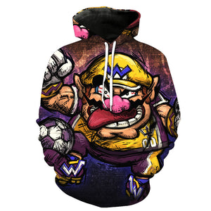 2019 Autumn New Style 3d Hoodies Cartoon Super Mario 3D print Hoodie Sweatshirt Funny Drugs Casual Pullover 3d Jacket Coat
