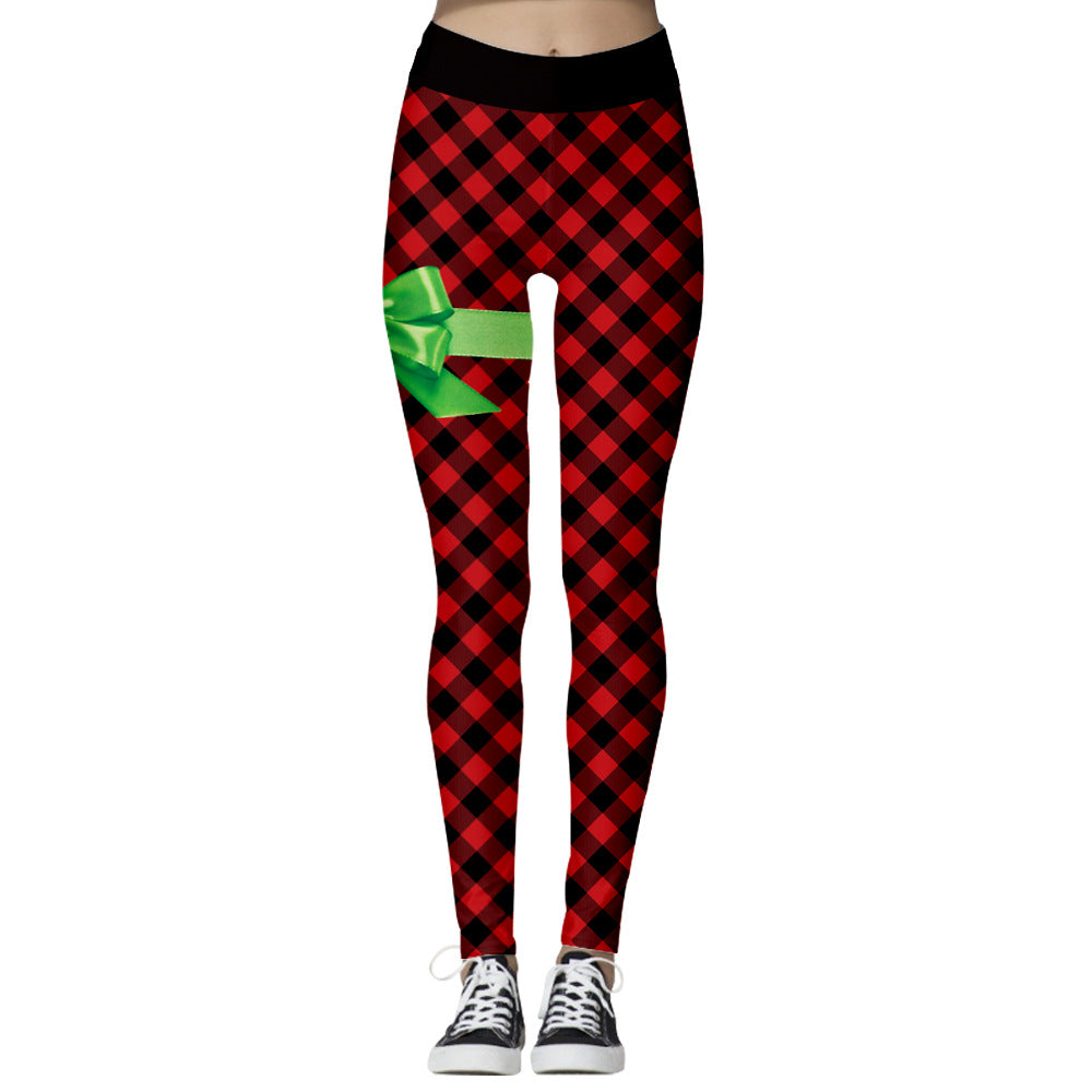 Women's Sporty / Basic Christmas Slim Chinos / Sweatpants Pants - 3D Print Print Red S M L