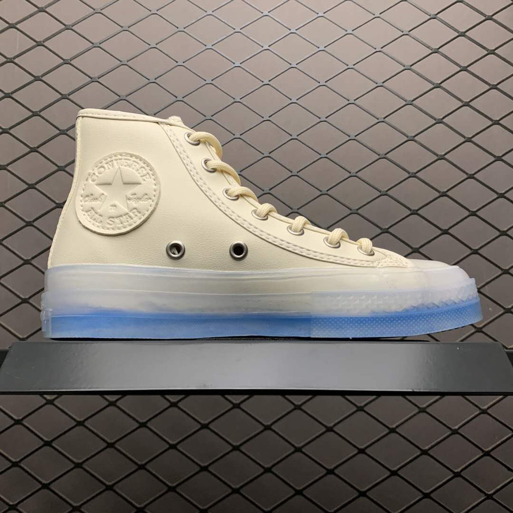 Converse Chuck Taylor All Star blue transparent jelly bottom high-top