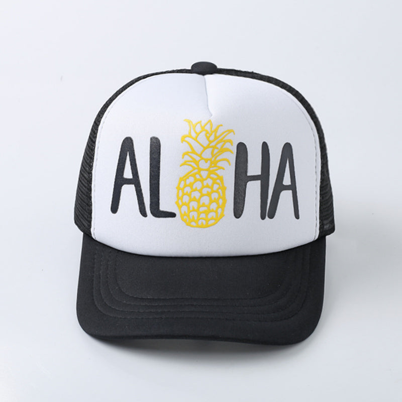 ALOHA Pineapple Print Baseball Cap Trucker Hat