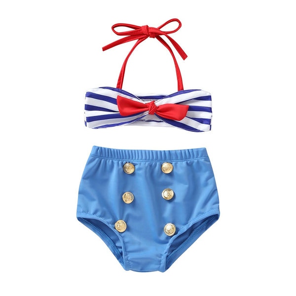 Baby Swimwear Straps Swimsuit Bathing Bikini Set Outfit Bebek Mayo Costume Da Bagno Ragazza MAY19P35