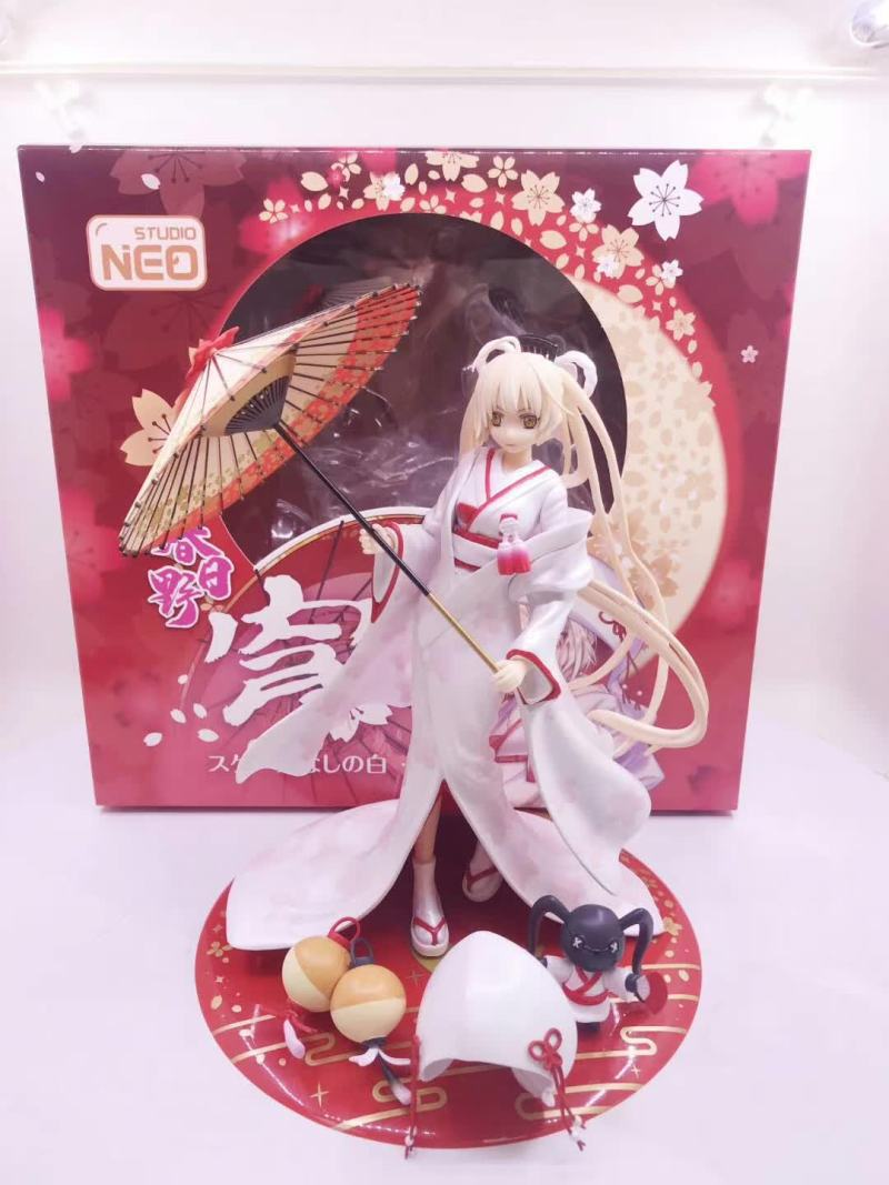 NEW Anime Skytube Yosuga no Sora Kasugano Sora White Kimono Bride Ver. With Umbrella Sexy Girl PVC Action Figure Model Toys