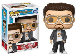 Funko Pop! Marvel: Spider-Man Homecoming - Tony Stark Vinyl Figure (Bundled with Pop Box Protector Case)