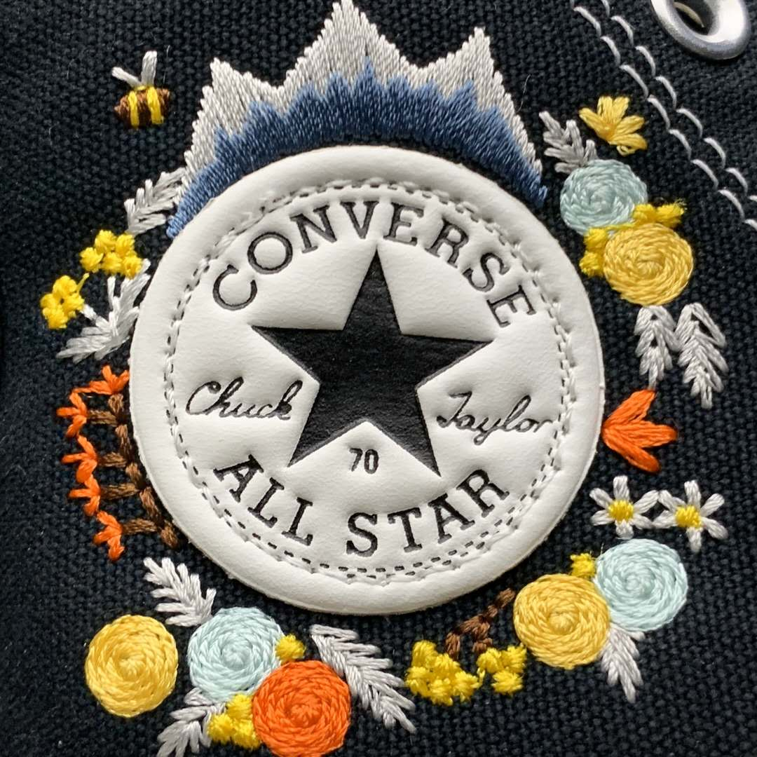 Converse Converse All Star Floral Embroidery Canvas High-Top