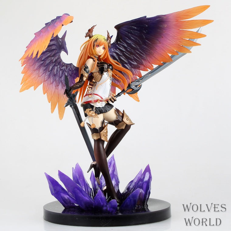 Rage Of Bahamut Dark Angel And Vie++ 1/8Scale PVCMade In Pre-painted PVC Figure