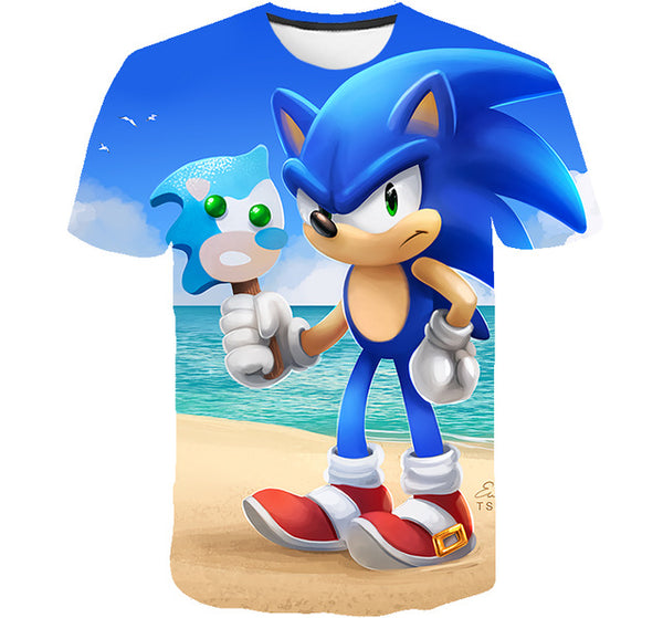 2020 summer Clothing Kids Clothes Baby Tshirts street 3D Boys Mario Supersonic