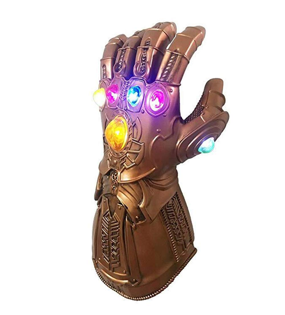 Avengers Infinity War Infinity Gauntlet LED Light Thanos Gloves(Adult Size)