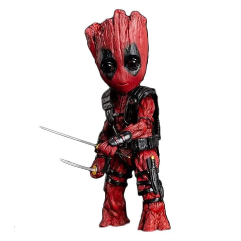 Space Guard Groot COS Deadpool Joint Movable Action Figure