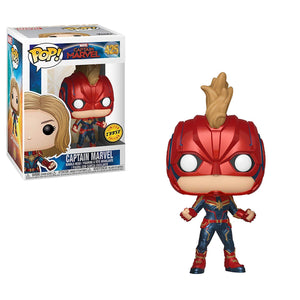 Funko Pop! Marvel: Captain Marvel - Captain Marvel Masked Chase Bobblehead