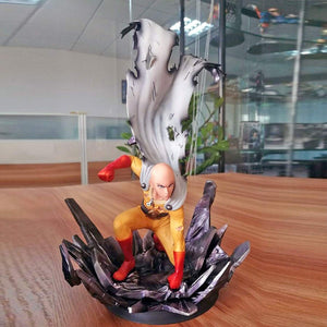 One Punch Man - Saitama DXF Action Figure -- Collectible Model Toy -- 25 Centimeters Tall