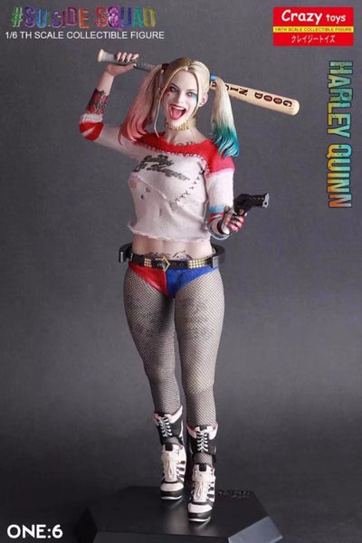 Crazy Toys 12''Suicide Squad Harley Quinn Action Figure Real Clothes Version