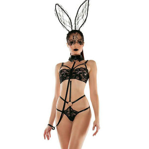 Women's Sexy Roleplay Bunny Playsuit Set Rabbit Outfit Cosplay Costume
