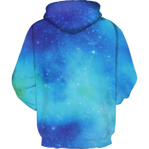 Kids Girls' Active Basic Geometric Color Block Print Long Sleeve Hoodie & Sweatshirt Blue