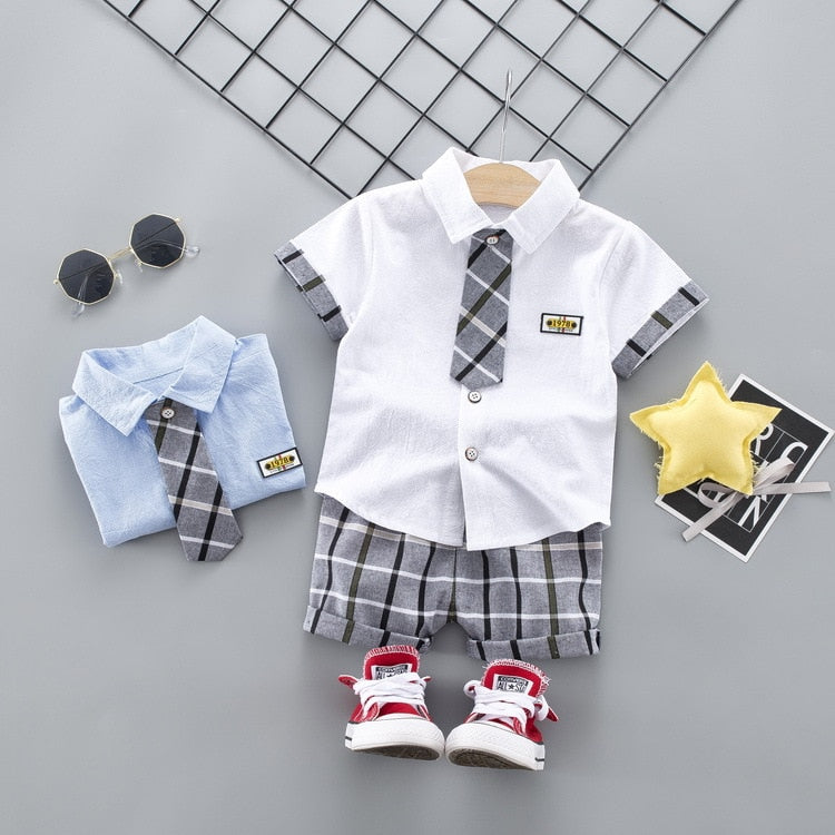 Baby boys clothing sets summer toddler fashion shirt+short pants 2pcs tracksuits