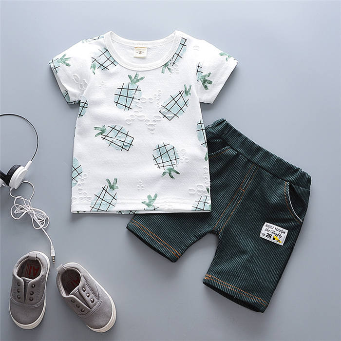 Baby Boys Clothes Suit Gentleman Style Wedding Shirt +Pants 2pcs Clothes for Boys