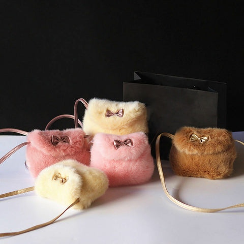 Soft Fur Handbags Bag Gift Purse Crossbody Bag Plush Backpacks Coin Purse